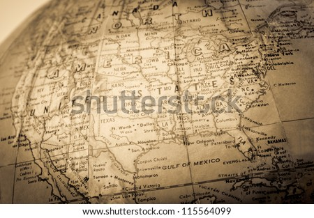 A faded colored  map Royalty-Free Stock Photo #115564099