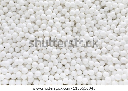 white balls background, room with a lot of white balls  #1155658045