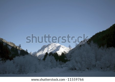 Winter mountain #11559766