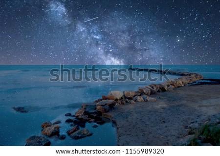 Milky way on the beach