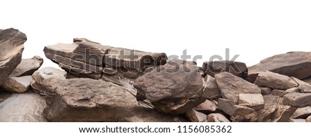 rock isolated on white background Royalty-Free Stock Photo #1156085362