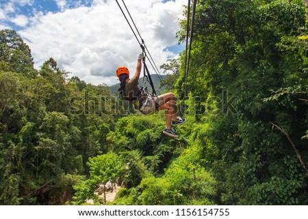 Zipline adventure, Chiang mai, Thailand  #1156154755