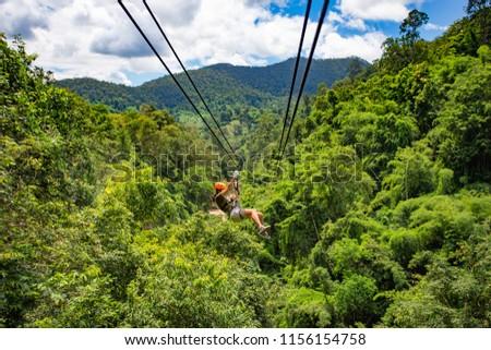 Zipline adventure, Chiang mai, Thailand  #1156154758