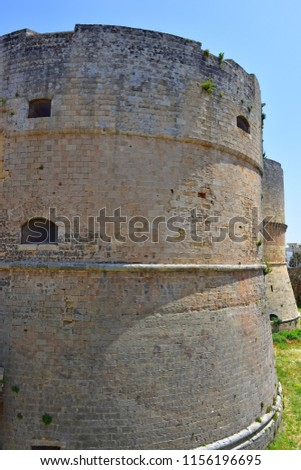 Italy, Otranto, 25 april 2018, Aragonese castle, XI century. View and details. #1156196695