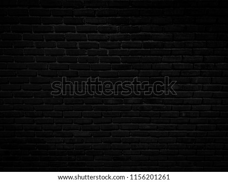 black brick wall background texture #1156201261