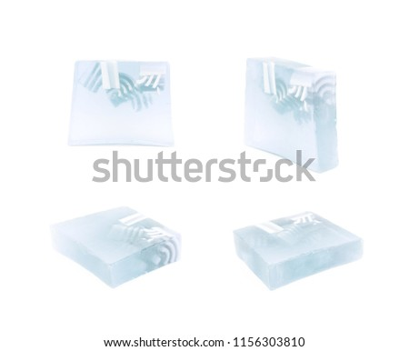 Hande made piece of soap isolated #1156303810