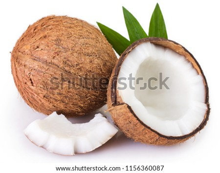 coconut isolated on white background #1156360087