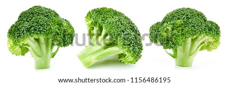 raw broccoli collection isolated on white background #1156486195
