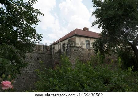 Uzhhorod Castle Ukraine on a clear summer day #1156630582