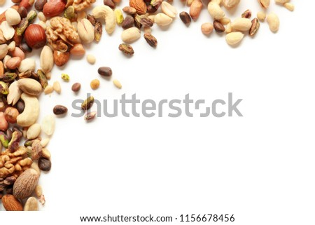 Different nuts on white background #1156678456