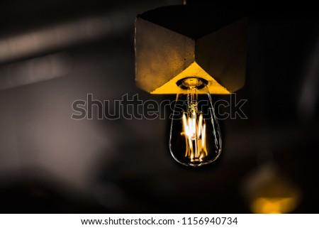 lamp on a dark background #1156940734