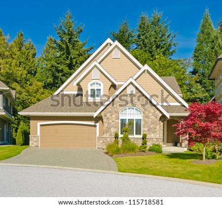 Big custom made luxury house in the suburbs of Vancouver, Canada. #115718581
