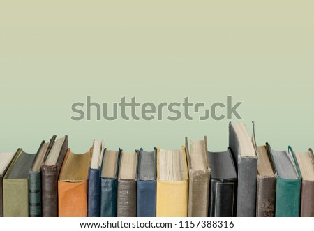 Collection of old books  on background #1157388316