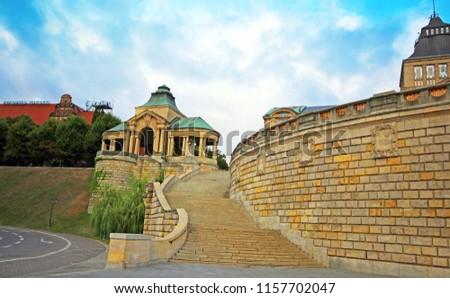 Haken Terrace in Szczecin. Summer. Poland  Royalty-Free Stock Photo #1157702047
