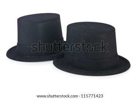 Cylinder hat isolated on the white #115771423