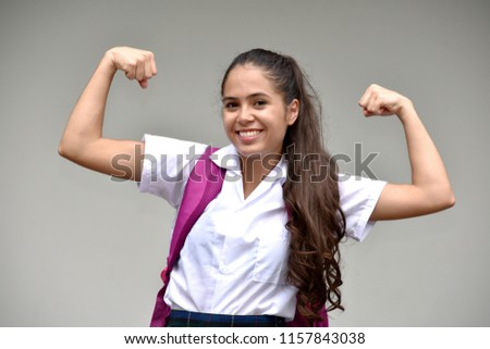 Catholic Female Student And Muscles #1157843038