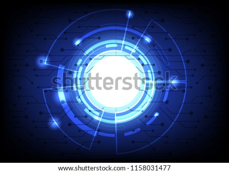 Abstract sphere shape of global network for the future background #1158031477