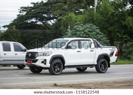 Chiangmai, Thailand - July  24 2018:  Private Pickup Truck Car New Toyota Hilux Revo  Rocco. On road no.1001, 8 km from Chiangmai city. #1158122548