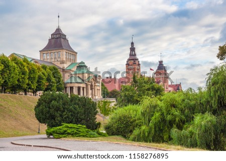 Haken Terrace in Szczecin, Poland Royalty-Free Stock Photo #1158276895