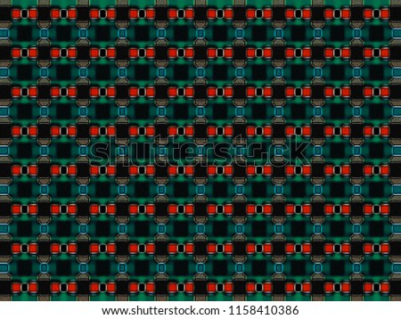 abstract texture | colored weave pattern | modern checkered background | geometric plaid illustration for wallpaper interior fabric garment gift wrapping paper or fashion concept design  #1158410386