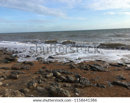 Shoreline at Atherfield Isle of Wight #1158641386