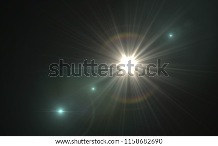 Abstract image of lighting flare.Abstract sun burst with digital lens flare background #1158682690