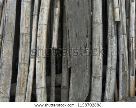 Bridge made from woods. #1158702886