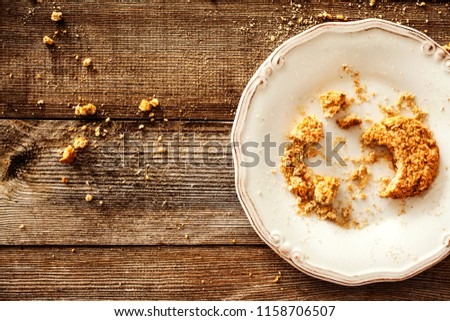 Cookie on the wooden background #1158706507