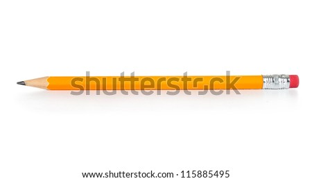 Pencil isolated on pure white background Royalty-Free Stock Photo #115885495