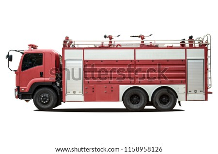 Fire Truck on white background
