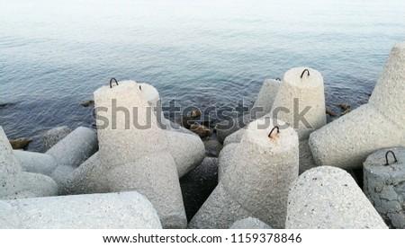 Coast wave braker stones #1159378846