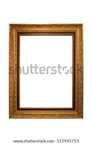 Gold Vintage Frame Isolated On White Background #115945753