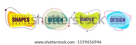 vector illustration abstract shape. colorful creative frames for advertising text, with the effect of imposing. modern graphical design business cards, invitations, gift cards, flyers ,brochures Royalty-Free Stock Photo #1159656946