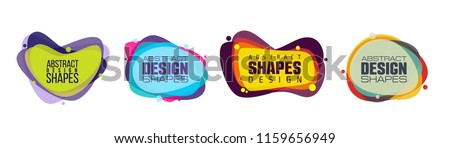 vector illustration abstract shape. colorful creative frames for advertising text, with the effect of imposing. modern graphical design business cards, invitations, gift cards, flyers ,brochures #1159656949