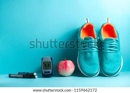 Diabetes. Sports diabetic. Slim figure, losing weight. Sport. Sports life of a diabetes patient.  #1159662172