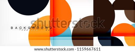 Circle abstract background, geometric vector illustration #1159667611