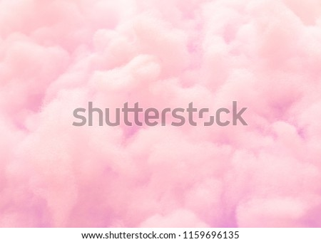 Colorful pink fluffy cotton candy background, soft color sweet candyfloss, abstract blurred dessert texture Royalty-Free Stock Photo #1159696135