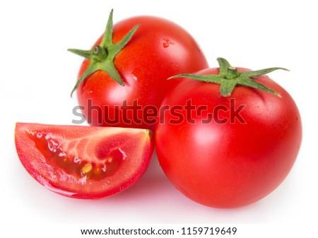 fresh tomato isolated on white background #1159719649