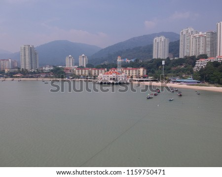 A picture of Tsunami village and Floating Mosque in Penang.