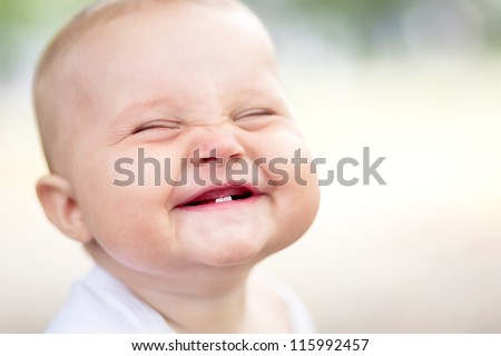 Beautiful smiling cute baby Royalty-Free Stock Photo #115992457