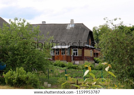 old and ruined house in the Belarusian village #1159953787