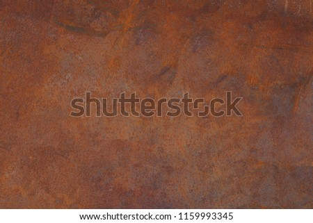 Grunge rusted metal texture, rust and oxidized metal background. Old metal iron panel. #1159993345