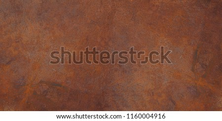 Panoramic grunge rusted metal texture, rust and oxidized metal background. Old metal iron panel. #1160004916