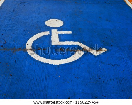 ็Handicapped parking  draw on the floor #1160229454