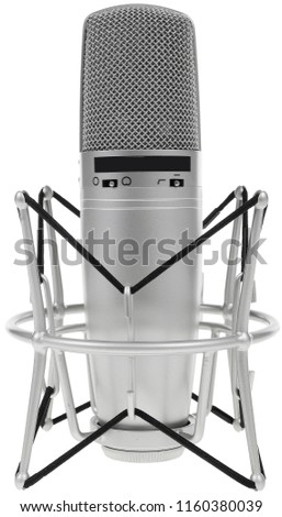 Desktop microphone isolated on white #1160380039