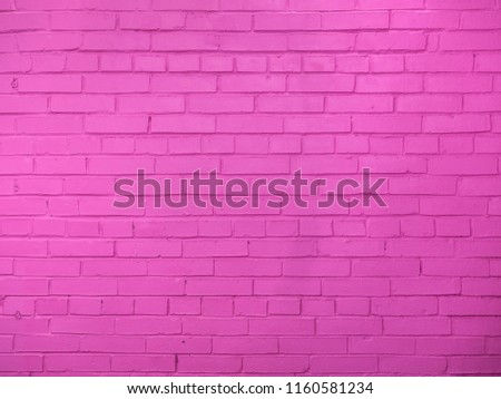 Brick wall texture, pink background with copy space #1160581234