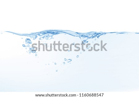 water splash isolated on white background,beautiful splashes a clean water #1160688547