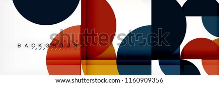 Circle modern geometrical abstract background, vector illustration #1160909356