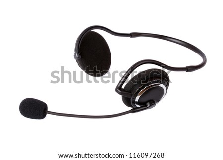 Headset isolated on white background #116097268