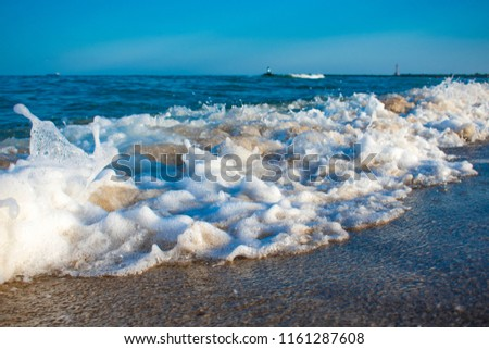 surf wave on the Black Sea coast #1161287608
